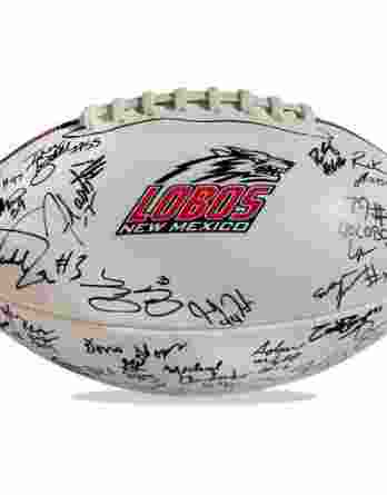 New Mexico Lobos authentic signed football