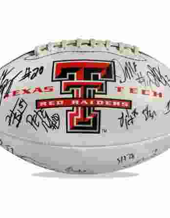 Texas Tech Raiders authentic signed football