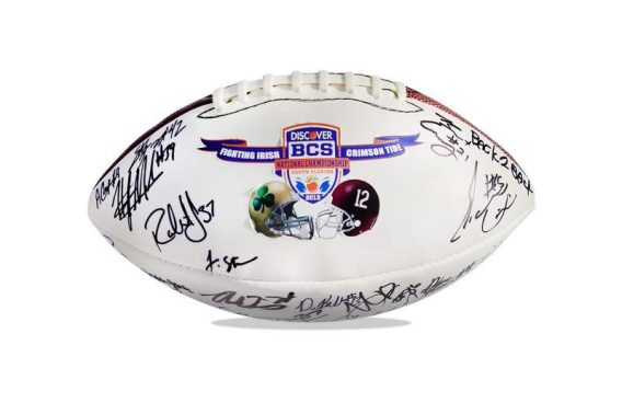 Alabama Roll Tide authentic signed football