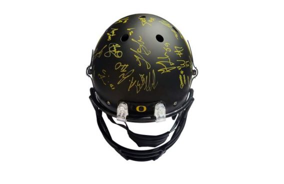 Oregon Ducks certificate of authenticity from the autograph bank