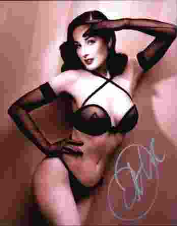 Dita Von Teese authentic signed 8x10 picture