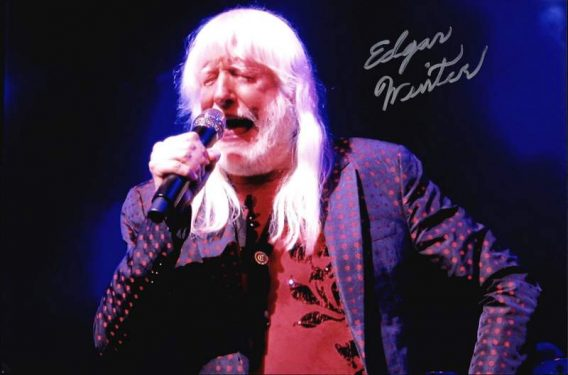Edgar Winter authentic signed 10x15 picture