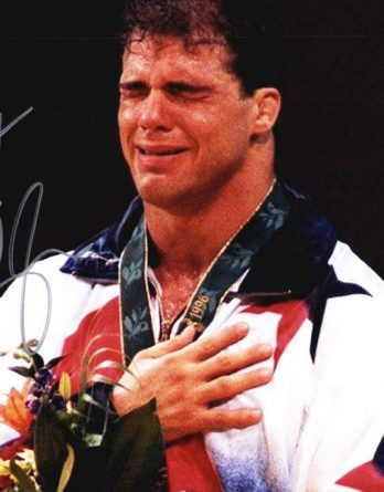 Kurt Angle authentic signed 8x10 picture