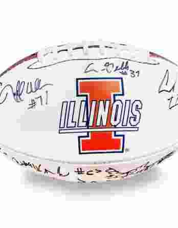 2008 Illinois Fighting Illini autographed team football