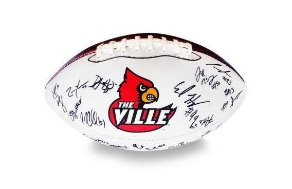 2008 Louisville Cardinals autographed team football