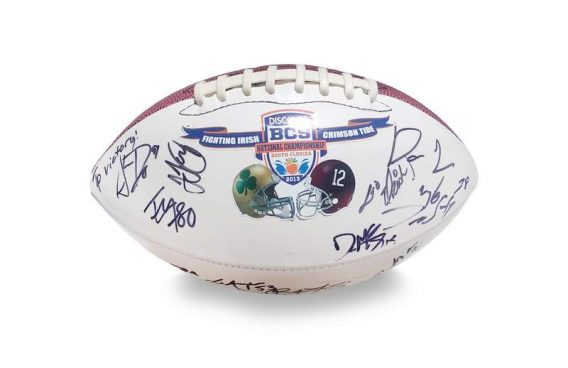 2012 Notre Dame Fighting Irish autographed team football