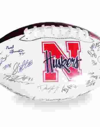 2012 Nebraska Cornhuskers autographed team football