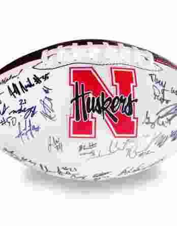 2012 Nebraska autographed team football