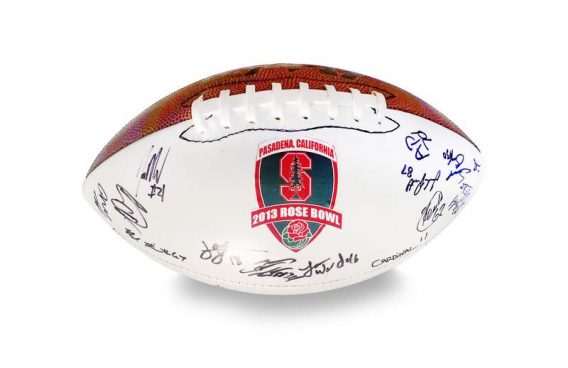 2012 Stanford Cardinal autographed team football