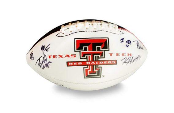 2012 Texas Tech Red Raiders autographed team football