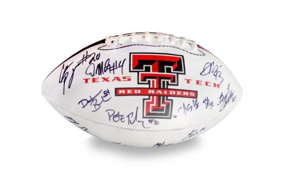 2012 Texas Tech Red Raiders autographed team football