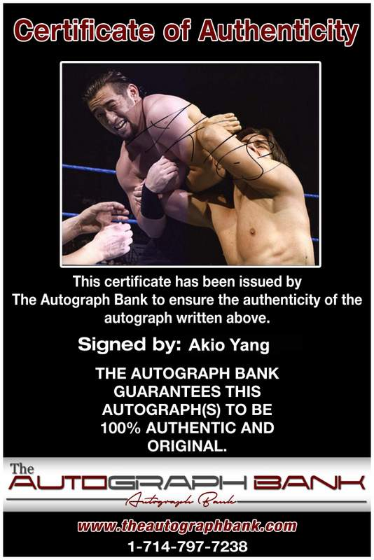 Akio Yang authentic signed WWE wrestling 8x10 photo W/Cert Autographed 03 Certificate of Authenticity from The Autograph Bank