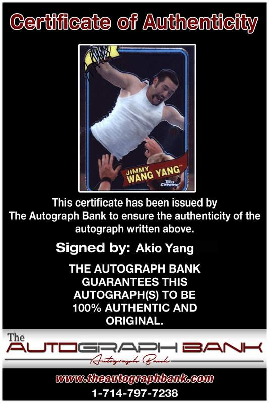 Akio Yang authentic signed WWE wrestling 8x10 photo W/Cert Autographed 31 Certificate of Authenticity from The Autograph Bank