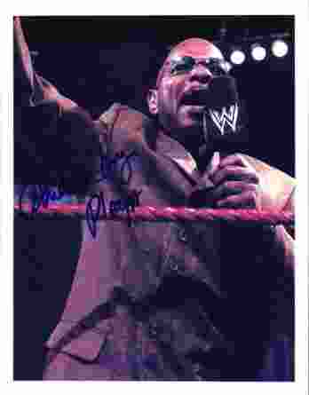 Theodore Long authentic signed WWE wrestling 8x10 photo W/Cert Autographed 01 signed 8x10 photo