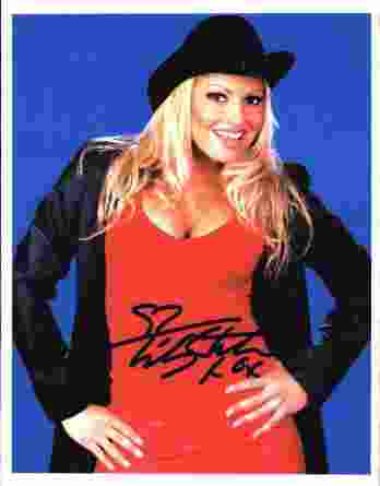 Trish Stratus authentic signed WWE wrestling 8x10 photo W/Cert Autographed 01 signed 8x10 photo