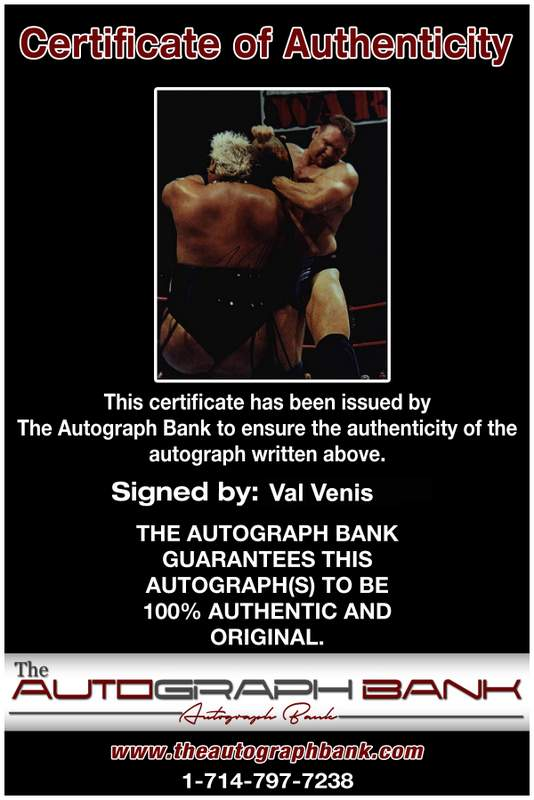 Val Venis authentic signed WWE wrestling 8x10 photo W/Cert Autographed 03 Certificate of Authenticity from The Autograph Bank