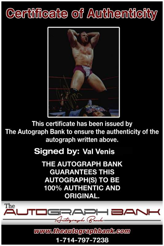 Val Venis authentic signed WWE wrestling 8x10 photo W/Cert Autographed 04 Certificate of Authenticity from The Autograph Bank