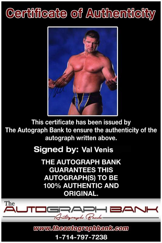 Val Venis authentic signed WWE wrestling 8x10 photo W/Cert Autographed 06 Certificate of Authenticity from The Autograph Bank