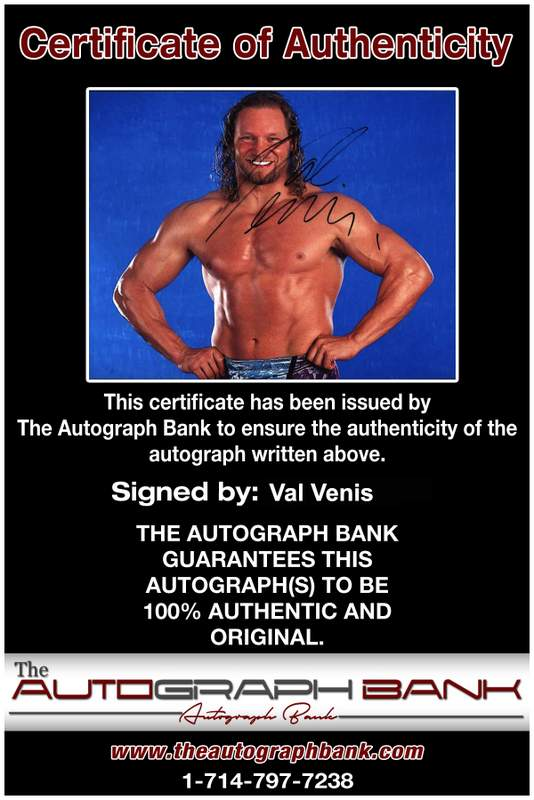Val Venis authentic signed WWE wrestling 8x10 photo W/Cert Autographed 08 Certificate of Authenticity from The Autograph Bank