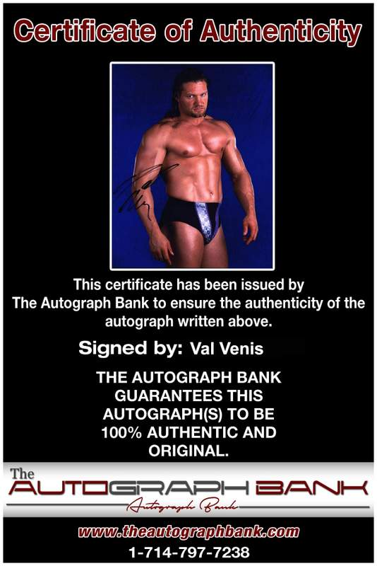 Val Venis authentic signed WWE wrestling 8x10 photo W/Cert Autographed 09 Certificate of Authenticity from The Autograph Bank
