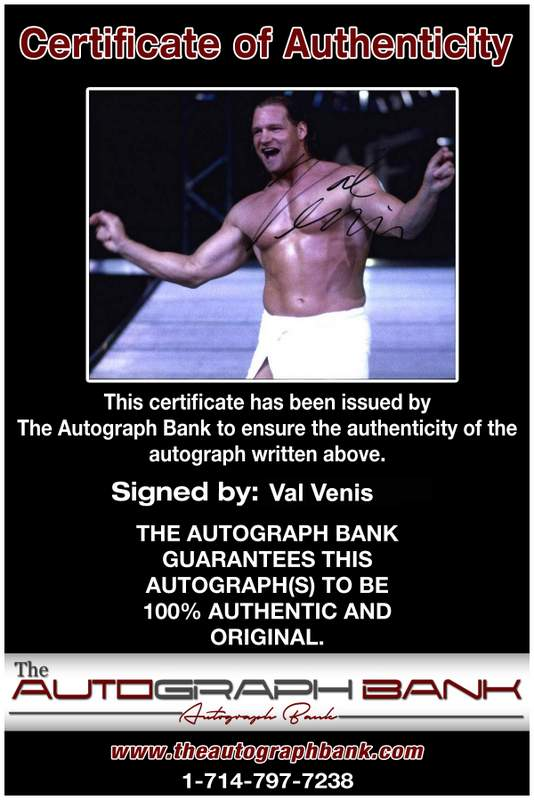 Val Venis authentic signed WWE wrestling 8x10 photo W/Cert Autographed 10 Certificate of Authenticity from The Autograph Bank
