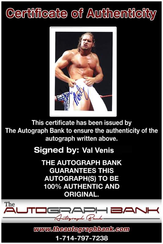 Val Venis authentic signed WWE wrestling 8x10 photo W/Cert Autographed 12 Certificate of Authenticity from The Autograph Bank