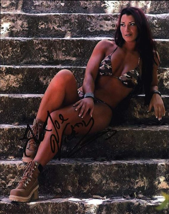 Victoria Marie authentic signed WWE wrestling 8x10 photo W/Cert Autographed 01 signed 8x10 photo