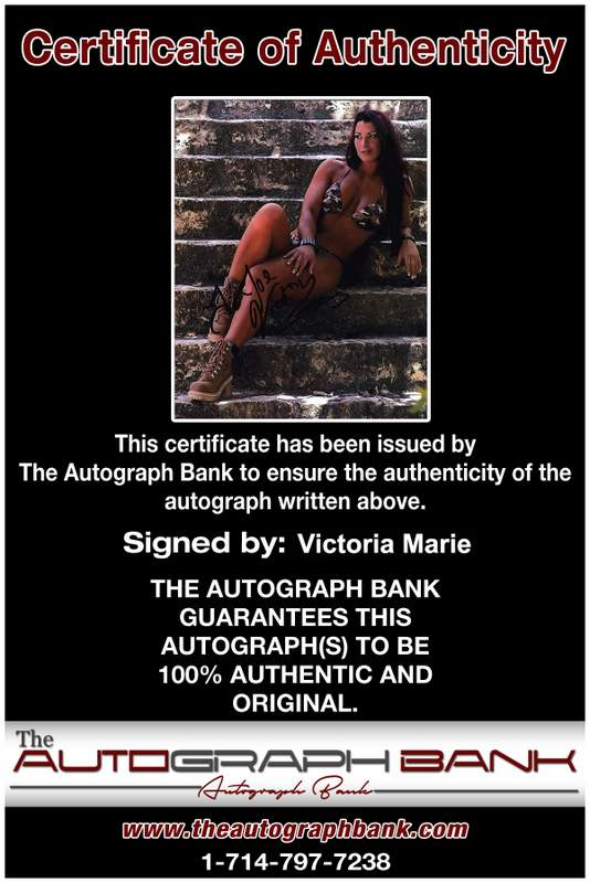 Victoria Marie authentic signed WWE wrestling 8x10 photo W/Cert Autographed 01 Certificate of Authenticity from The Autograph Bank