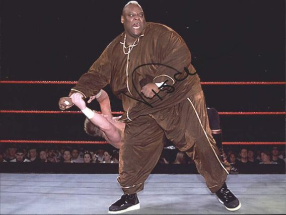 Viscera Big Daddy Voodoo signed WWE wrestling 8x10 photo W/Cert Autographed 01 signed 8x10 photo