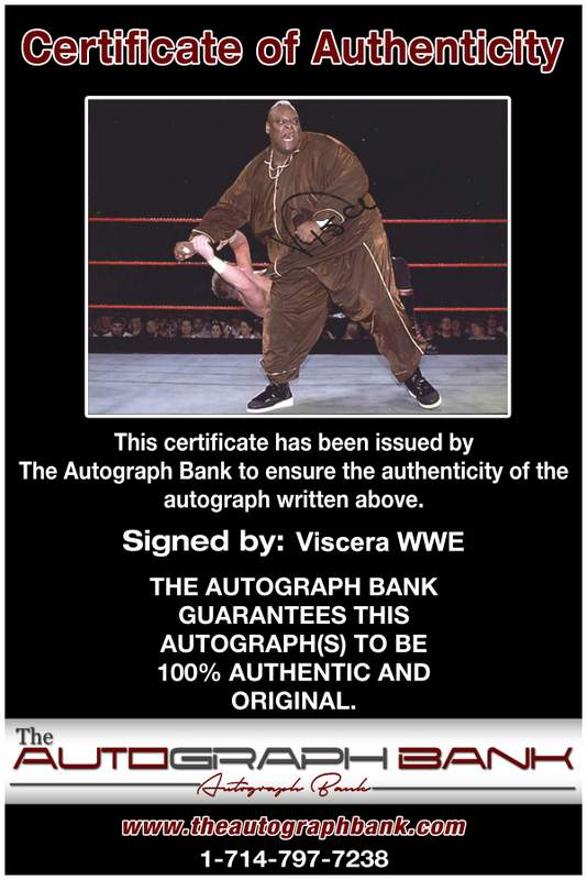 Viscera Big Daddy Voodoo signed WWE wrestling 8x10 photo W/Cert Autographed 01 Certificate of Authenticity from The Autograph Bank