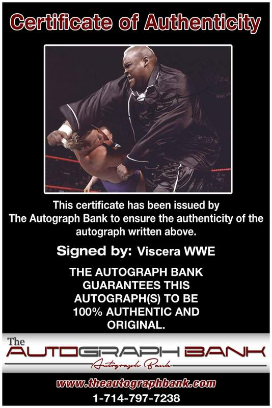 Viscera Big Daddy Voodoo signed WWE wrestling 8x10 photo W/Cert Autographed 03 Certificate of Authenticity from The Autograph Bank