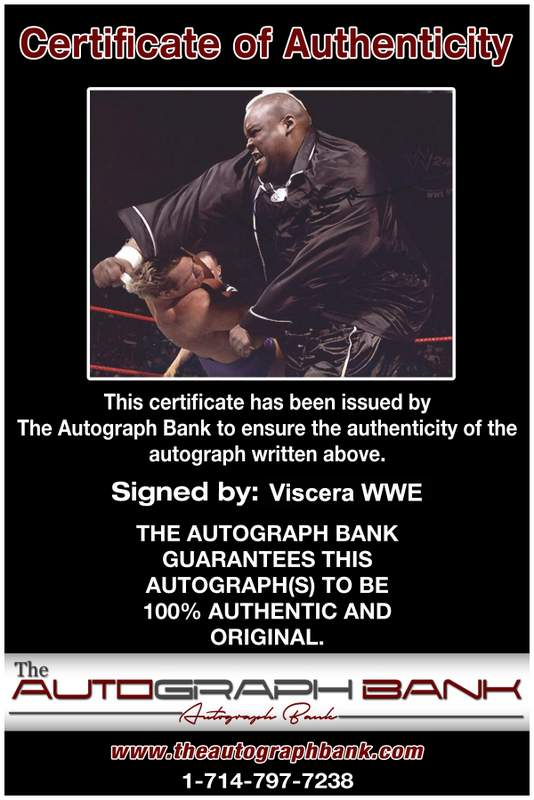Viscera Big Daddy Voodoo signed WWE wrestling 8x10 photo W/Cert Autographed 04 Certificate of Authenticity from The Autograph Bank