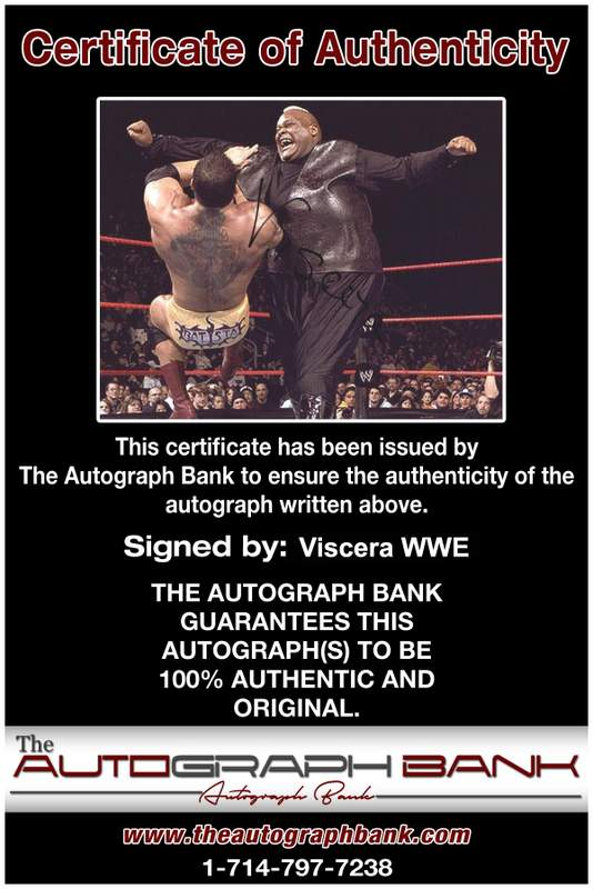 Viscera Big Daddy Voodoo signed WWE wrestling 8x10 photo W/Cert Autographed 06 Certificate of Authenticity from The Autograph Bank