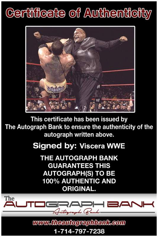 Viscera Big Daddy Voodoo signed WWE wrestling 8x10 photo W/Cert Autographed 09 Certificate of Authenticity from The Autograph Bank