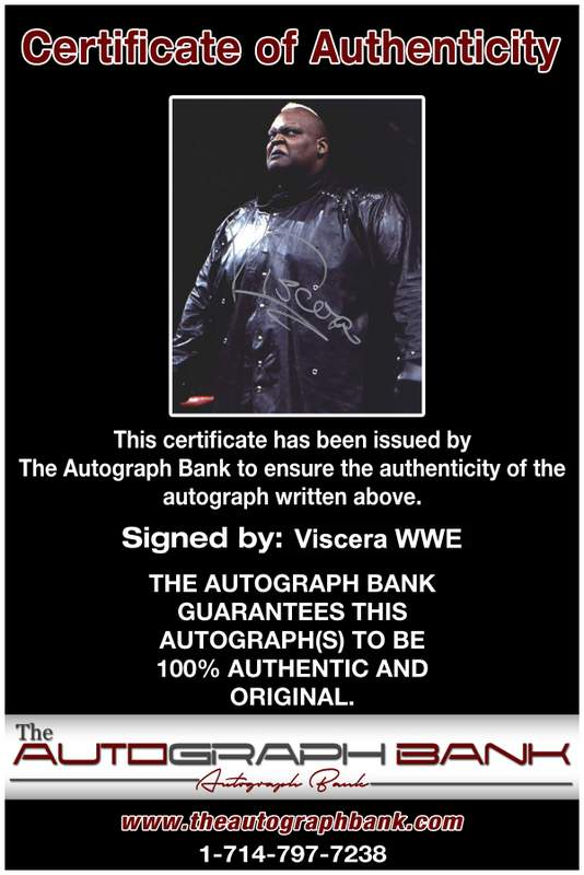 Viscera Big Daddy Voodoo signed WWE wrestling 8x10 photo W/Cert Autographed 10 Certificate of Authenticity from The Autograph Bank