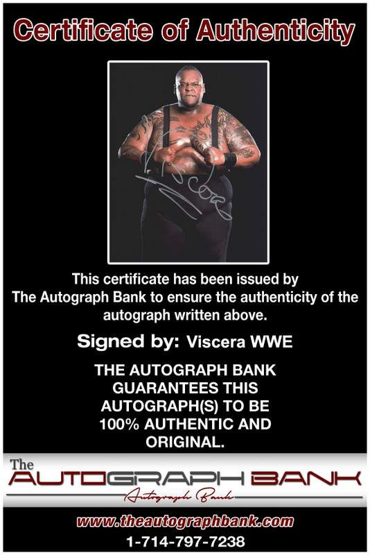 Viscera Big Daddy Voodoo signed WWE wrestling 8x10 photo W/Cert Autographed 11 Certificate of Authenticity from The Autograph Bank