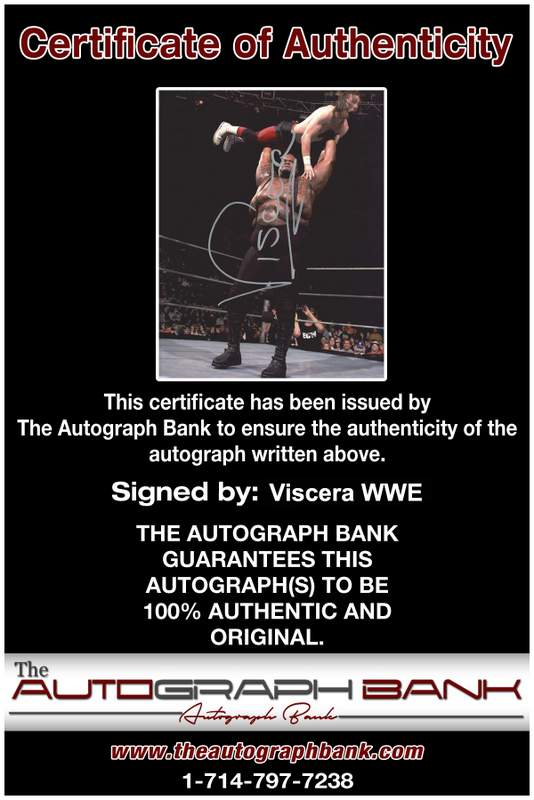 Viscera Big Daddy Voodoo signed WWE wrestling 8x10 photo W/Cert Autographed 12 Certificate of Authenticity from The Autograph Bank