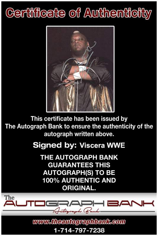 Viscera Big Daddy Voodoo signed WWE wrestling 8x10 photo W/Cert Autographed 14 Certificate of Authenticity from The Autograph Bank