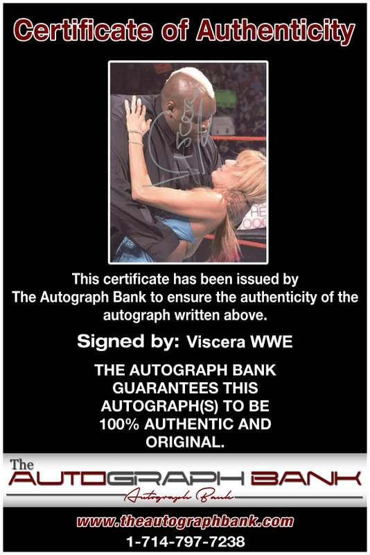 Viscera Big Daddy Voodoo signed WWE wrestling 8x10 photo W/Cert Autographed 15 Certificate of Authenticity from The Autograph Bank