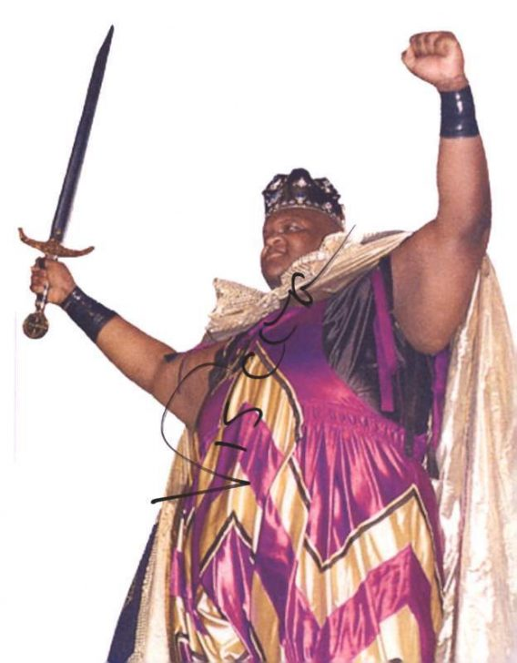 Viscera Big Daddy Voodoo signed WWE wrestling 8x10 photo W/Cert Autographed 17 signed 8x10 photo