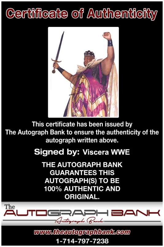 Viscera Big Daddy Voodoo signed WWE wrestling 8x10 photo W/Cert Autographed 17 Certificate of Authenticity from The Autograph Bank
