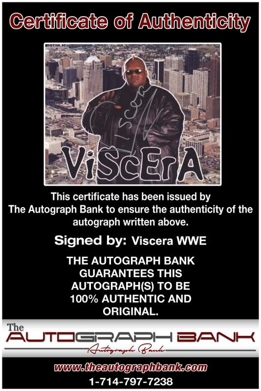 Viscera Big Daddy Voodoo signed WWE wrestling 8x10 photo W/Cert Autographed 19 Certificate of Authenticity from The Autograph Bank