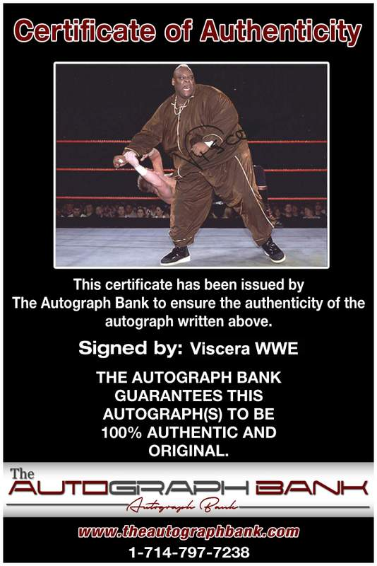 Viscera Big Daddy Voodoo signed WWE wrestling 8x10 photo W/Cert Autographed 50 Certificate of Authenticity from The Autograph Bank