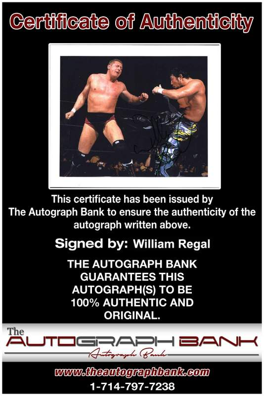 William Regal authentic signed WWE wrestling 8x10 photo W/Cert Autographed 02 Certificate of Authenticity from The Autograph Bank