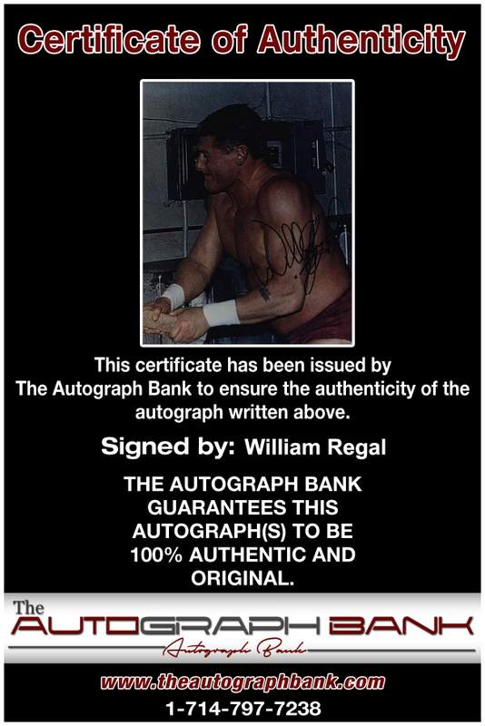 William Regal authentic signed WWE wrestling 8x10 photo W/Cert Autographed 03 Certificate of Authenticity from The Autograph Bank