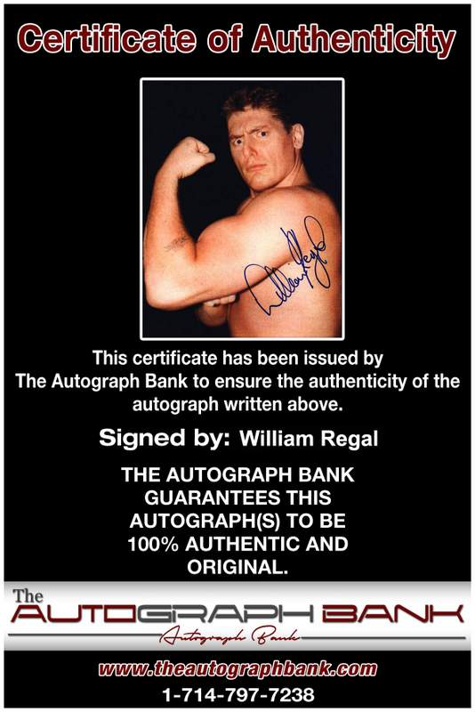 William Regal authentic signed WWE wrestling 8x10 photo W/Cert Autographed 05 Certificate of Authenticity from The Autograph Bank