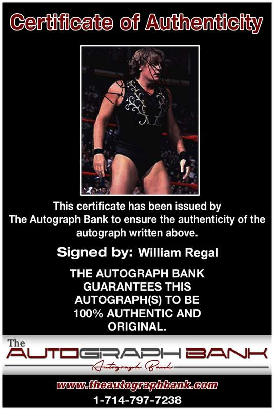 William Regal authentic signed WWE wrestling 8x10 photo W/Cert Autographed 06 Certificate of Authenticity from The Autograph Bank