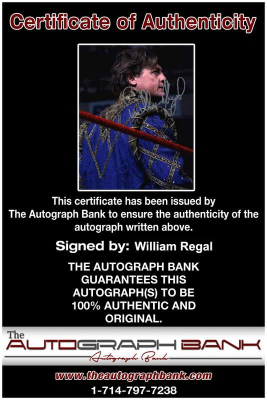 William Regal authentic signed WWE wrestling 8x10 photo W/Cert Autographed 08 Certificate of Authenticity from The Autograph Bank