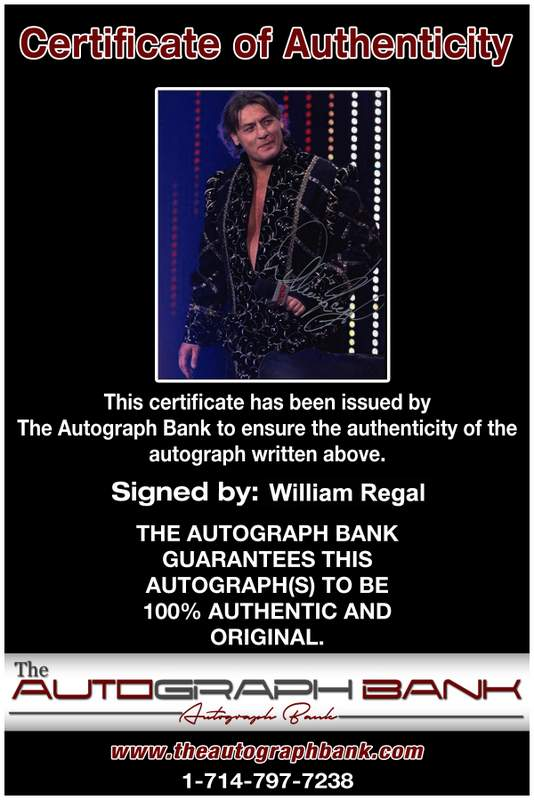 William Regal authentic signed WWE wrestling 8x10 photo W/Cert Autographed 09 Certificate of Authenticity from The Autograph Bank