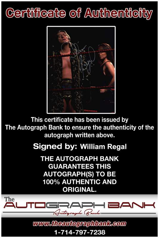 William Regal authentic signed WWE wrestling 8x10 photo W/Cert Autographed 10 Certificate of Authenticity from The Autograph Bank